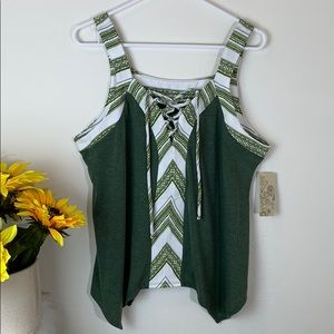 Ivy Ridge green sleeveless Top